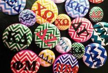 GREEK BUTTON COVERS / ALTR your apparel into custom sorority/fraternity gear with our Greek Button Covers.