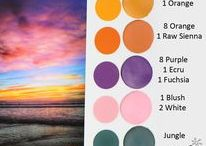 DIY Color Mixing Charts / Color mixes with Sculpey clay
