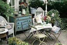 The Orchard: Inspiring Gardens: Shabby Chic Vintage / Garden Inspiration, decor ideas