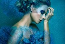 Fashion Editorial: Azure / Editorial photography from magazines and fashion campaigns featuring blues.