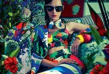 Fashion Editorial: Rainbow / Editorial photography from magazines and fashion campaigns featuring all colors of the rainbow.