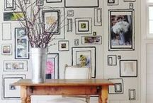 The Orchard: Creative Walls: Shabby Chic Vintage / Wall decor ideas - Creative walls from frames to the more unusual, to weird and wonderful.