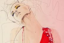 Media: Illustration / Fashion illustrations and other illustrative art featured in magazines and on blogs.