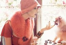 Fashion Editorial: Tangerine / Editorial photography from magazines and fashion campaigns featuring orange shades.