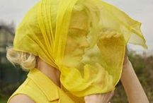 Fashion Editorial: Goldenrod / Editorial photography from magazines and fashion campaigns featuring golden and yellow hues.