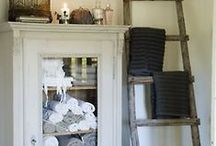 The Orchard: Steps and Ladders: Shabby Chic Vintage / Towel Ladders/Steps as shelves and interior decor