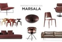 The Orchard: Colour of the Year 2015 Marsala: Shabby Chic Vintage / With the announcement of colour of the year 2015 by Pantone we thought we'd bring you some Marsala interior inspiration. You don't even have to go to town and put it all over the walls, accents work just as well and won't break the bank.