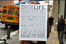 LIFE GOALS / Inspire, Aspire, Learn, Love, and Enjoy.