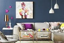 The Orchard: Dark Walls: Shabby Chic Vintage / Go dark with your decor for a real dramatic effect.