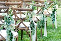 Aisle Markers & Decor / Pew, aisle and chair markers for weddings and special events.