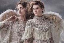 Fashion Editorial: Fantasy / Editorial photography from magazines and fashion campaigns featuring fantasy fashion and magic.