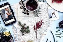 Inspiration: Flatlay Photography / Flatlay photography inspiration from Instagram and more.