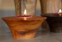 Candle Holders / From tea lights to candlesticks.  Turning the lights on with your projects.