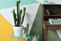 The Orchard: Colour Block Walls: Shabby Chic Vintage