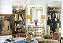 interior: closet/dressing room / by Sally Osborne