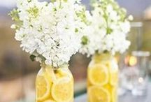 Yellow Wedding Ideas / Inspiration for your wedding in sunny yellow tones! Everything from yellow cakes, reception decor, yellow wedding flowers and stationery. // yellow wedding theme, yellow bridal bouquet, summer wedding colors