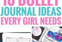 Journal Ideas + Planners / Journal ideas to help keep you organized, from daily planners, health journals, recipe books, agendas, bullet journals, printable planners and more!