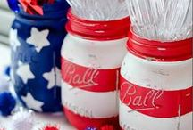 July 4th, Memorial Day or other Patriotic Moments Ideas / A collection of pins that display the red, white and blue.....also reminds me of summer and being outdoors.  / by Minnie Chivas
