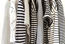 Stripes + statement necklaces / Breton stripes, black and white, and big statement necklaces. Two of my favourite things