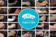 """""""I Turn It Off"""" Anti-Idling Campaign / """"I Turn It Off"""" is a campaign to end unnecessary vehicle #idling. Did you know that letting your car idle for more than 10 seconds wastes more gas than restarting it?  ••• Learn more and join the thousands who have pledged to stop idling at iturnitoff.com! •••"""