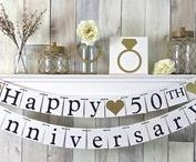 Golden Wedding Anniversary / http://www.dreamairshop.co.uk/wedding-anniversary-gifts/50th-golden-wedding-anniversary-gifts.html
