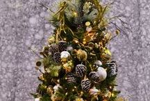 Designer Inspired Christmas Trees /  Christmas at Flowerland starts early every year, our Buyers get sent all over the world to find the best ornaments and decor for your holiday haven.This year let us Holidazzle you!
