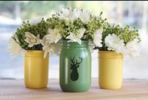 ✽ Mason Jars / Seriously, who doesn't love something functional and beautiful.Oh, humble mason jar. You have become such an icon for crafters everywhere. Look what you have become!