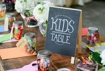 Kids Tables / Kids tables can be so simple but beautiful at the same time. Don't think flowers are only for adults. Children love flowers. Flowers are cheerful and can create that special pop of color for any decoration.