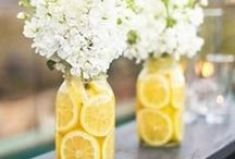 Fruit n Flowers / What a simplistic idea of pairing flowers and fruit to make beautiful arrangements and centerpieces. Let your creativity soar.