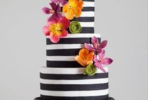 Flower Cakes / Creative fresh flower cake designs. No edible but beautiful and fun.