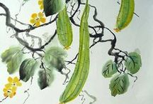 _My Paintings - Chinese Free Style / Here you can find my paintings! All of them are painted with water color and ink on rice paper in the Chinese free style technique Xie Yi. Enjoy it. All my paintings are for sale! Check my website http://birgit-moldenhauer.pixels.com/index.html