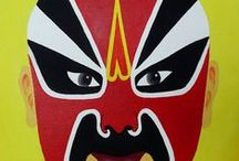 _My Paintings - Chinese Opera Masks / Here you can find my paintings of Chinese Opera Masks! All of them are painted in oil on canvas. Enjoy it. All my paintings are for sale! Check my website http://birgit-moldenhauer.pixels.com/index.html