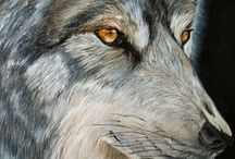Art - Wolf Paintings (for my sister) / Great Artwork - Wolf Paintings!