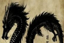 Chinese Art - Dragons / Chinese dragon paintings