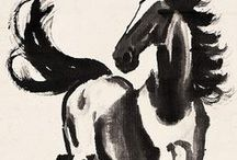 Chinese Art - Horse / Chinese traditional horse paintings