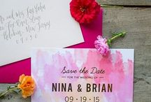 Save the Dates / Save the date cards + stationery for modern weddings