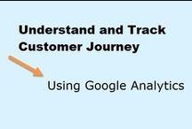 Customer Journey with Google Analytics / Learn how segments of your website visitors move through your site.  Decide the path you want them to take and create a funnel to track it in Google Analytics / by Peg Corwin