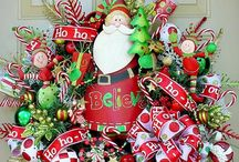 Christmas wreaths, door hangers, mantels & front doors / by Hope Smith-Hawn