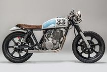 Bikes / Ref images for an electric cafe racer motorcycle. 100 mile range and 100mph top speed.