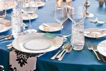 Black Damask and Turquoise Wedding