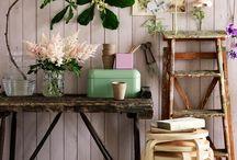 Ray & baby girls Room- muted, natural botanical