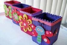 Lekker knutselen / Leuke knutsel ideeën voor kinderen