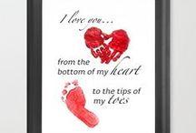 Valentijnsdag, moederdag en vaderdag / Knippen en plakken voor mama's & papa's, oma's & opa's en iedereen waar we van houden!