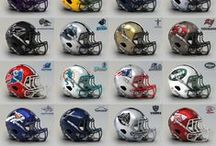 Football Helmets / A collection of helmets leather to current hi tech.....evolution