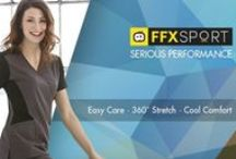 WonderFFX Sport Collection / Taking cues from active wear, FFX Sport is designed to keep you moving. Our super soft 100% polyester fabric is engineered for easy care and high performance. Mechanical stretch and sleek knit panels allow for any range of motion. Sporty design details elevate your style, while moisture management keeps you cool and comfortable. Created with your active lifestyle in mind, FFX Sport keeps you flexy and focused!