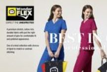 WonderFLEX Collection / Best in class professional apparel. We use our customer favorite stretch, cotton rich fabric designed with just the right amount of give to insure both comfort and professional appearance. Perfectly cut for a flattering fit that promises not to be too tight or too boxy. Eye catching details everywhere: adorable logo printed drawstring, triple-needle stitching, and WonderWink signature pockets.