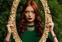 Romantic Victorian / Burgundy, Emerald and Plum