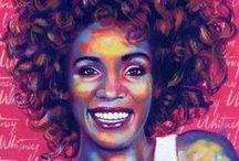 Natural Hair | Art / A collection of artwork which highlights or portrays afros, natural hair and black beauty. / by OfficiallyNatural Hair & Beauty