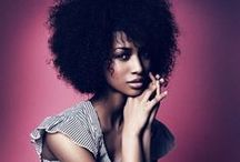 Natural Hairstyles | Afros / An afro also known as 'fro, is a hairstyle worn by people with predominantly kinky curly hair. Browse through the collection of afro hairstyles. Enjoy! / by OfficiallyNatural Hair & Beauty