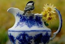 Blue Delft & Blue Flow / Delft, blue flow and transfer ware. / by Debby Moore